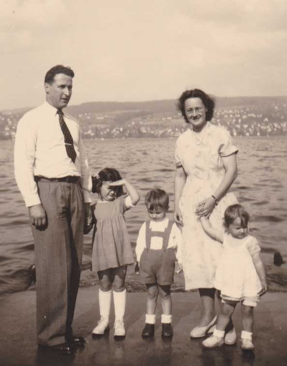 Prof. Borner and His Family in Thalwil (1949))